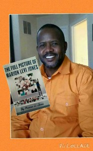 Marion L. Jones with his latest book, The Full Picture of Marion L. Jones
